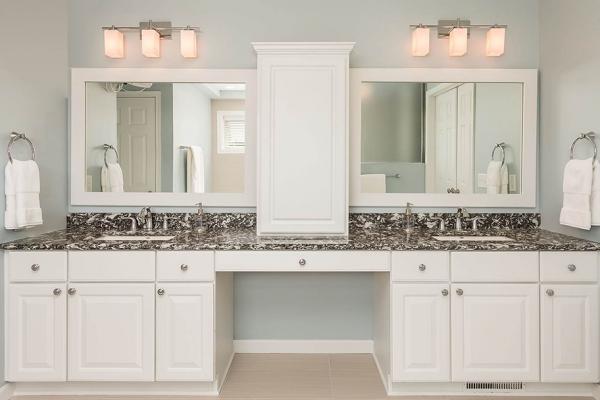 his and hers vanity sink   remodeled bathroom denver co