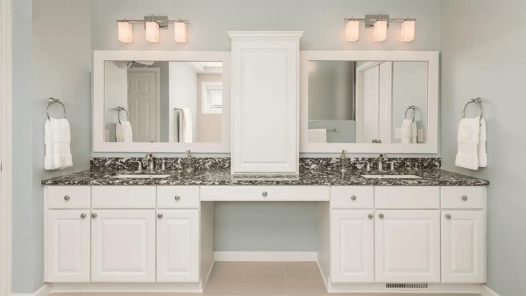 his and hers vanity sink | remodeled bathroom denver co