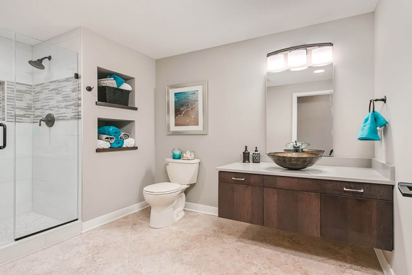 wood and white bathroom remodel denver co