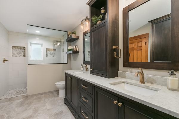 dark wood bathroom | bathroom remodel denver co