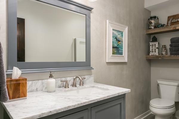 marble counter bathroom | bathroom remodel denver co