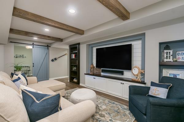 white wood living room | home remodel denver co