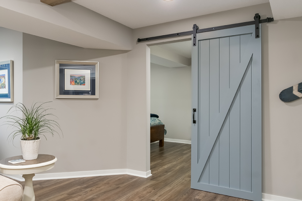 pastel barn door | home remodel denver co