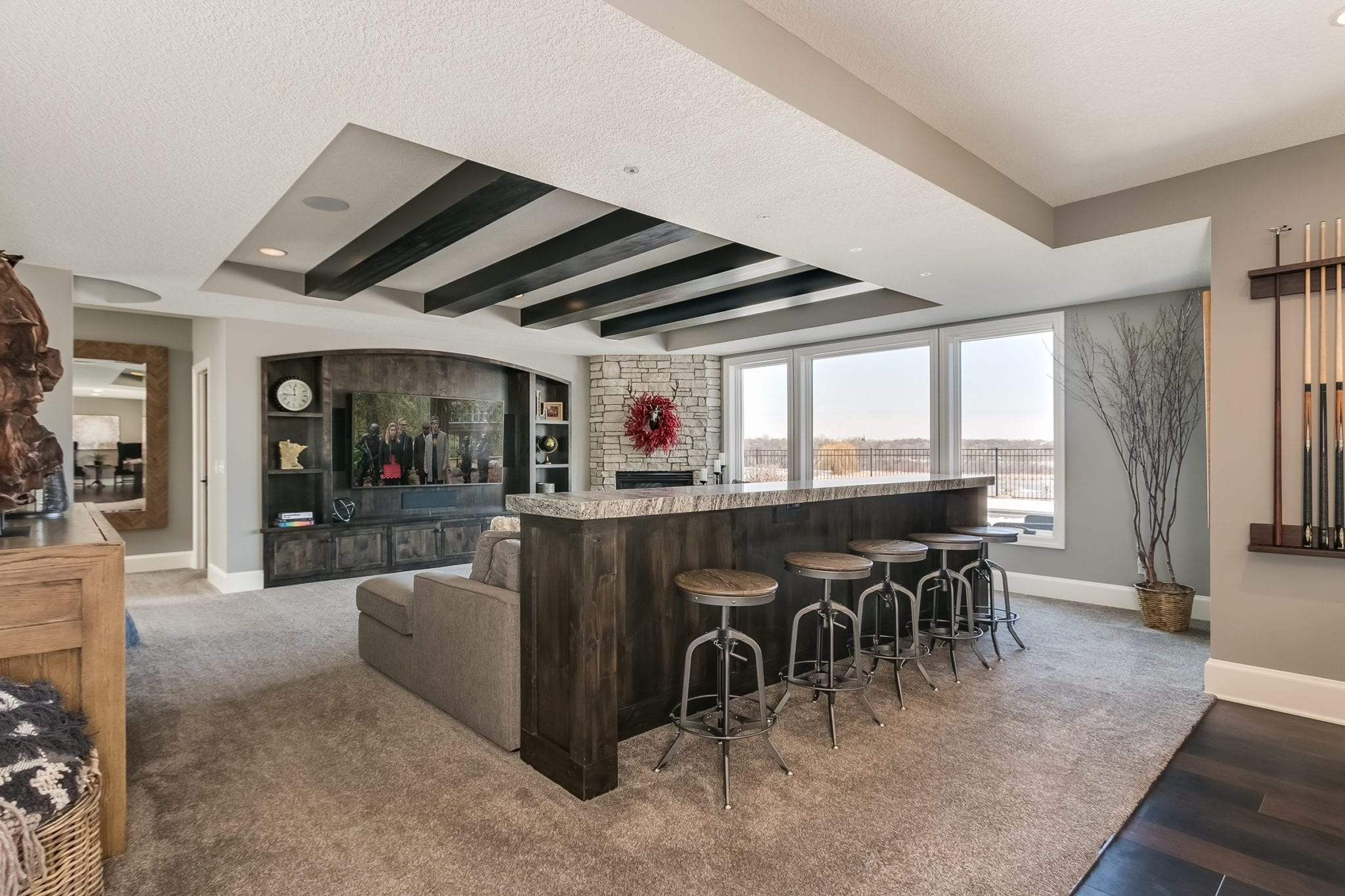 home theater | remodeled basement denver co