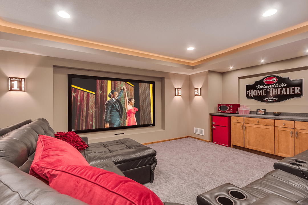 home theater naperville basement remodel