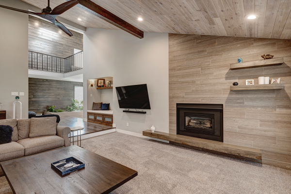 Open floor plan living space | Whole home remodel naperville