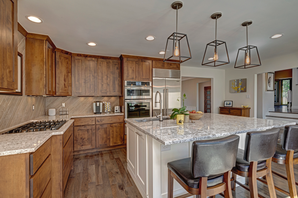 open floor plan kitchen with island | kitchen remodel naperville IL