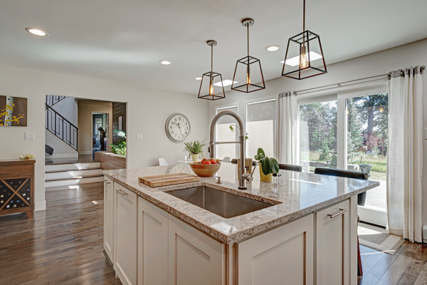 white kitchen island | kitchen remodel naperville il
