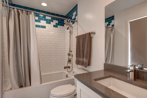 bathroom with white and neutral tones | bathroom remodel naperville il