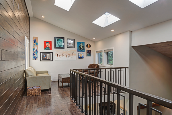 Lofted stairs reading nook | naperville il