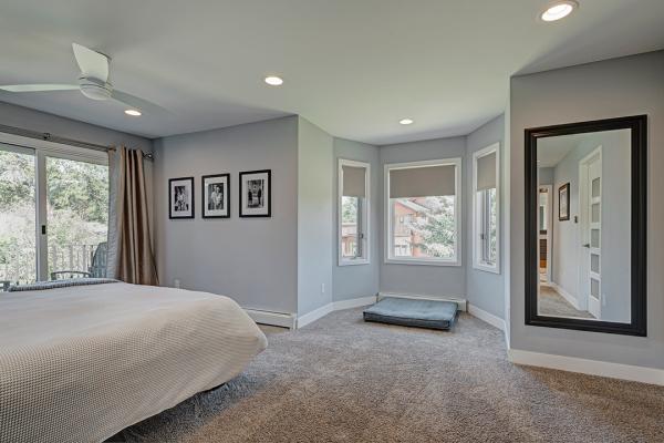 bedroom with bay window | bedroom remodel naperville IL