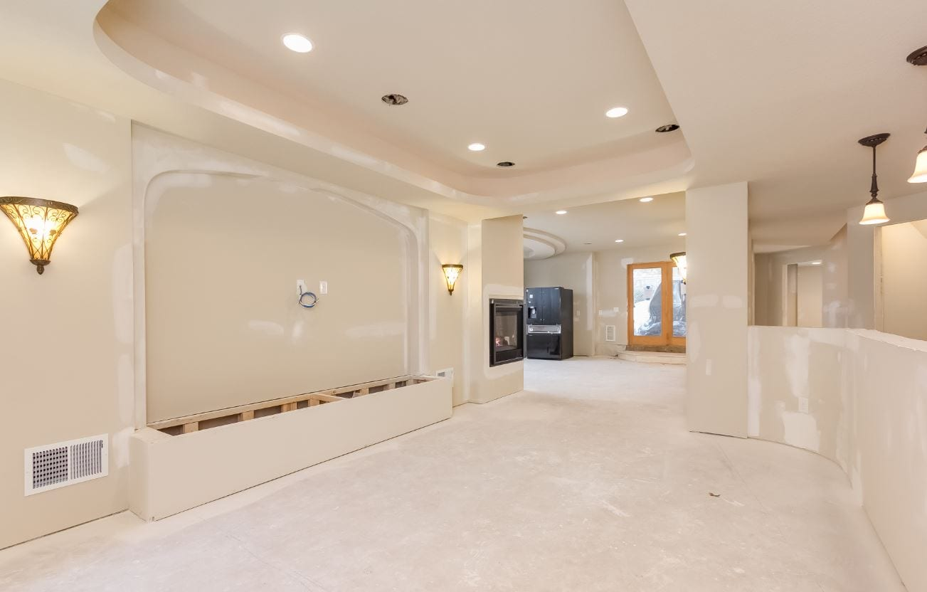 nearly finished basement | basement remodeling naperville