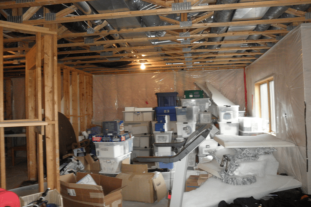 unfinished basement bathroom before | minneapolis basement remodel