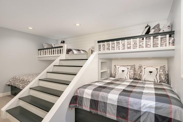 bunk beds with loft | bedroom remodel minneapolis