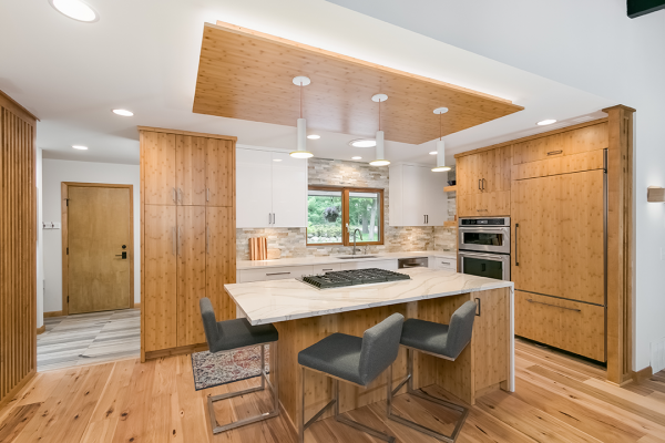 natural wood tone kitchen minneapolis minnesota