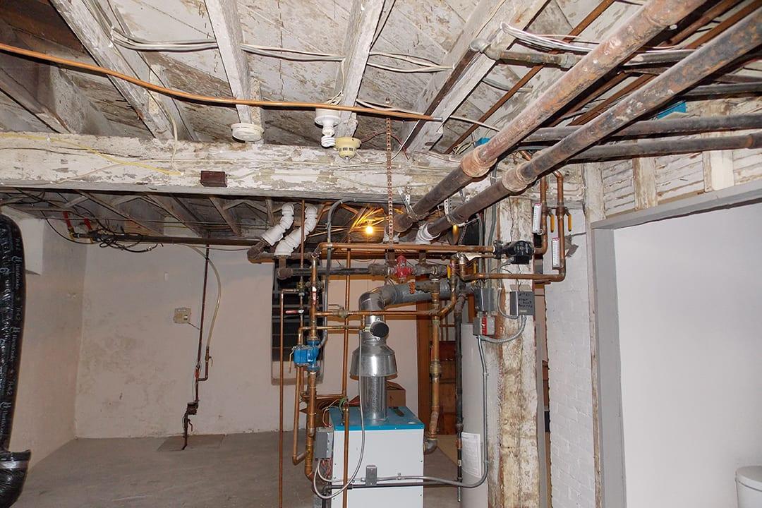 unfinished basement before | basement remodel minnesota