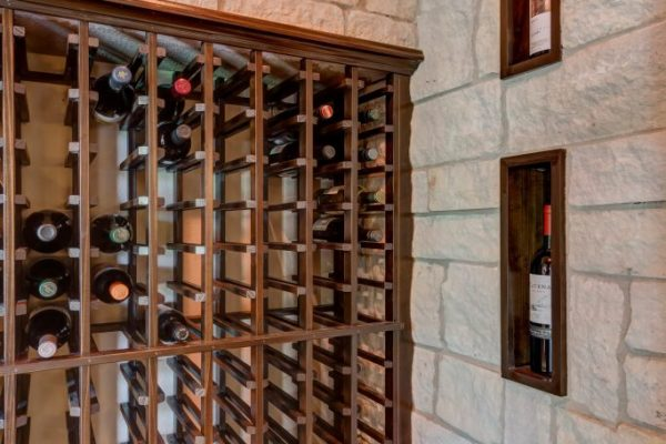 wine storage room in basement | fbc remodel