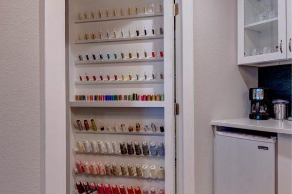 sewing storage door | fbc remodel