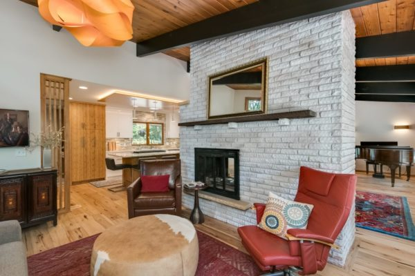 whole home remodel with stone wall fireplace | fbc remodel