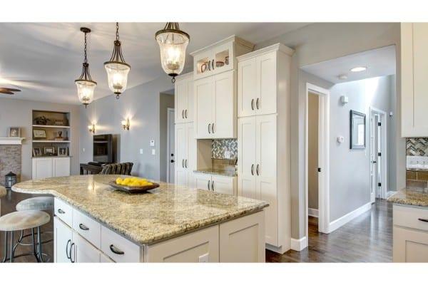 kitchen remodel | storage cabinets and kitchen island