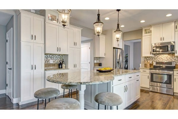 kitchen remodel | white kitchen with classic accents