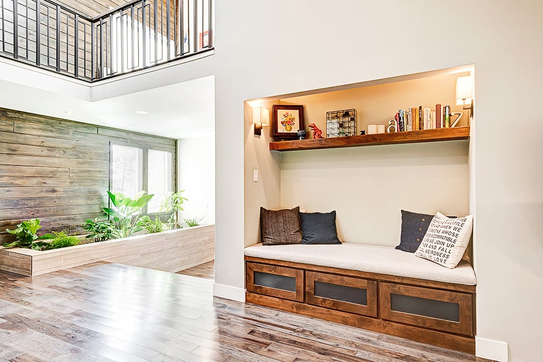 reading nook in whole home remodel