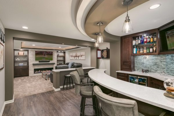 basement remodel | wet bar and home theater | fbc remodel