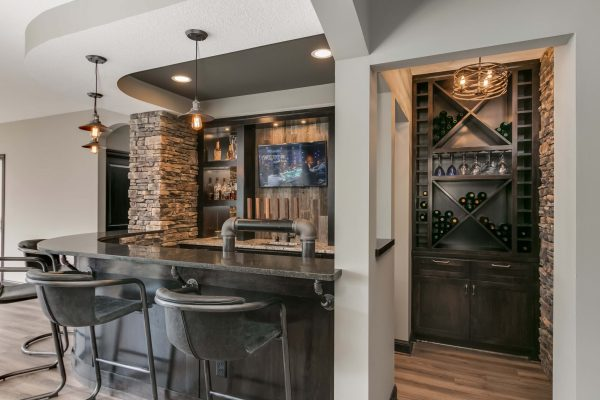 basement remodel | wet bar and wine storage | fbc remodel