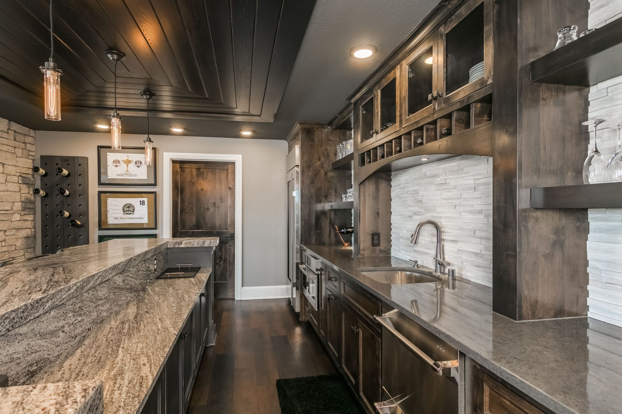 basement remodel with wet bar | fbc remodel