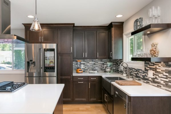 kitchen remodel with dark wood accents   fbc remodel