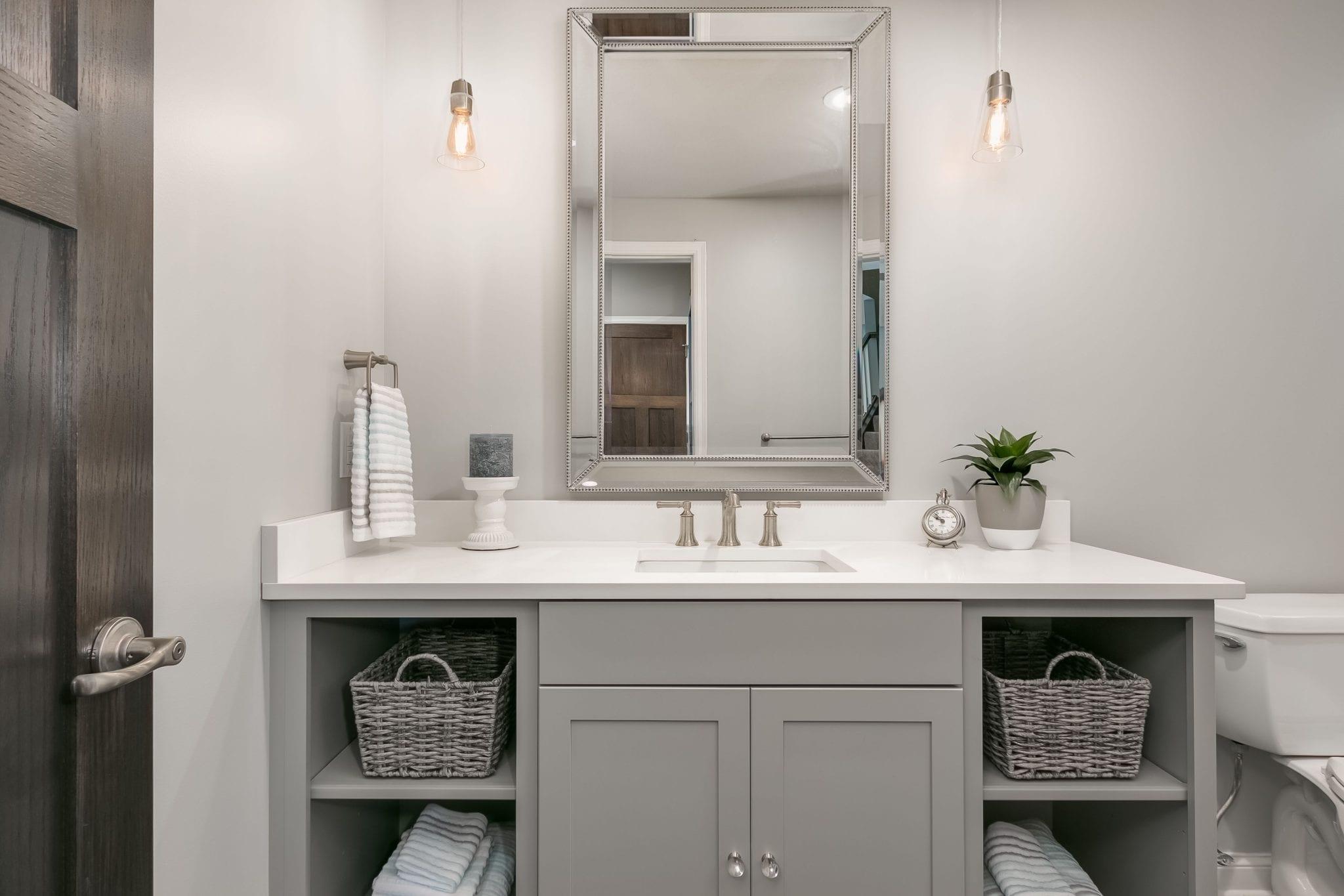 bathroom remodel | open cabinet space | fbc remodel