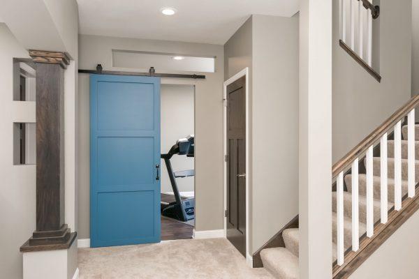 home gym entrance | basement remodel | fbc remodel