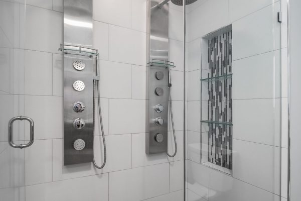 bathroom remodel | double shower head.| fbc remodel