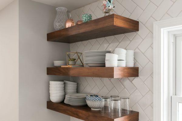 open shelves in kitchen | fbc remodel