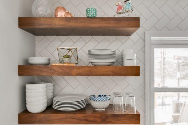kitchen remodel | open storage shelving.| fbc remodel