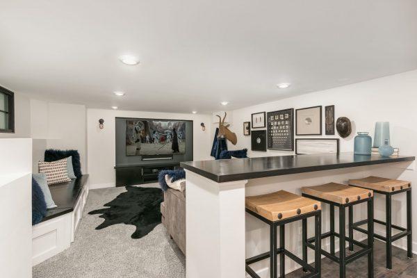 basement remodel with wet bar | fbc remodel