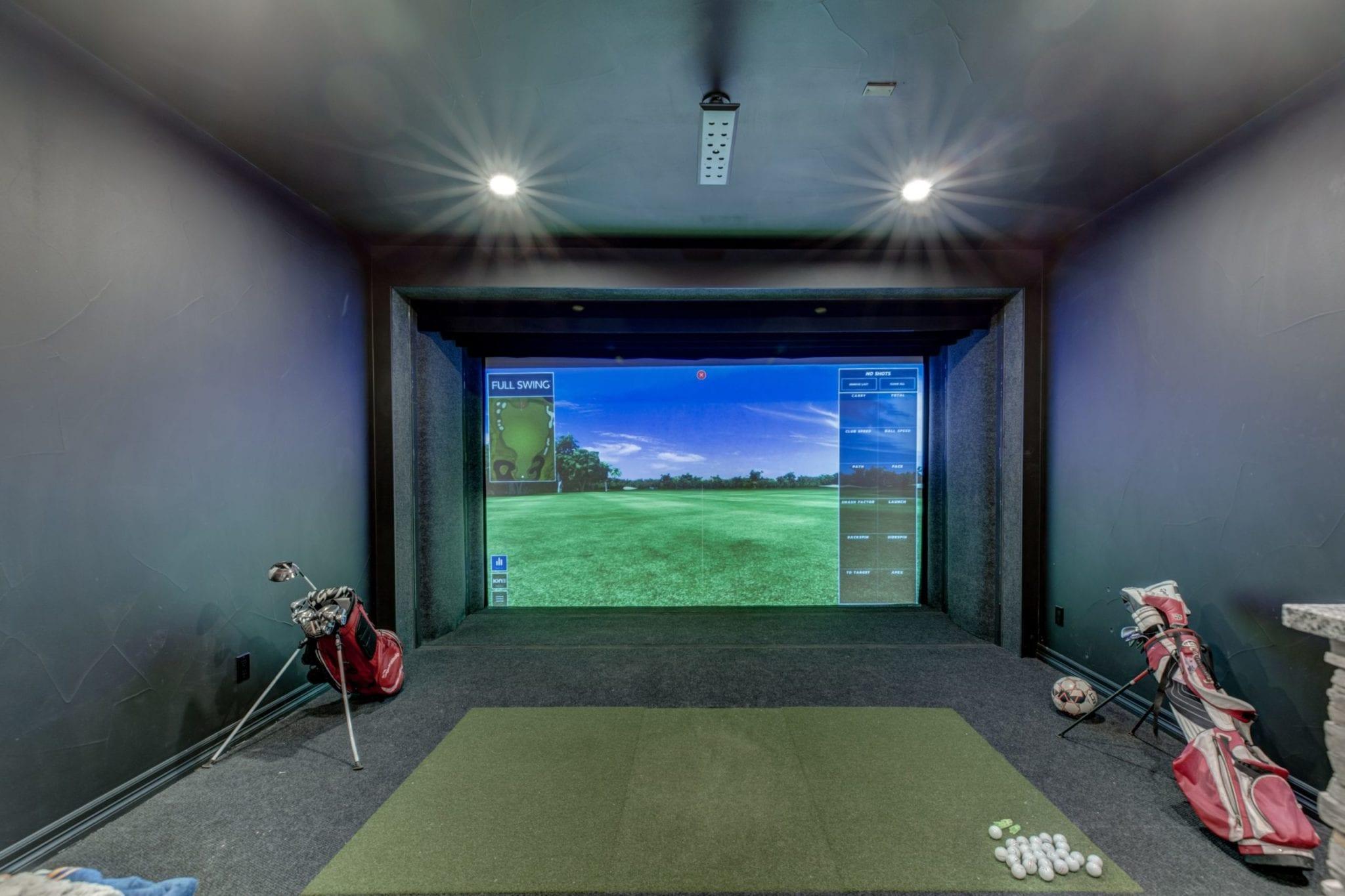 golf simulator   fbc remodel